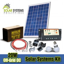 20W Off-Grid DC Solar System Kits