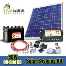 2_50W Off-Grid DC Solar System Kits
