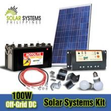 100W Off-Grid DC Solar System Kits